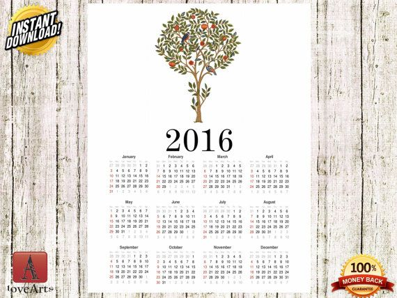 Hey, I found this really awesome Etsy listing at https://www.etsy.com/listing/257048585/instant-download-calendar-2016-william