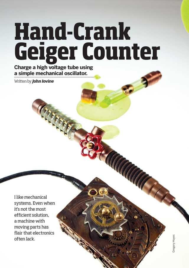 Hand-Crank Geiger Counter  Make Magazine - Volume 34 - Page 124-125