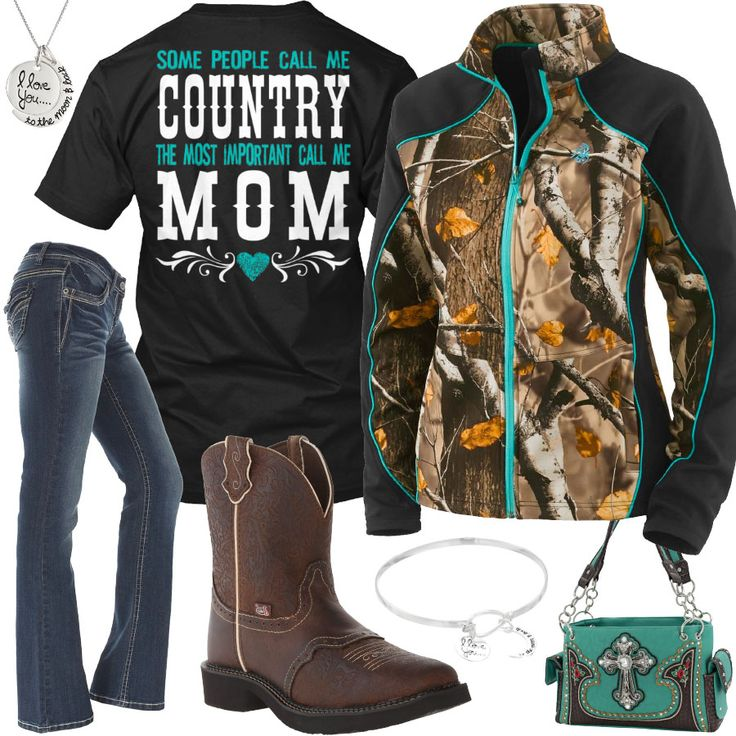 Most Important Call Me Mom Softshell Camo Jacket Outfit - Real Country Ladies