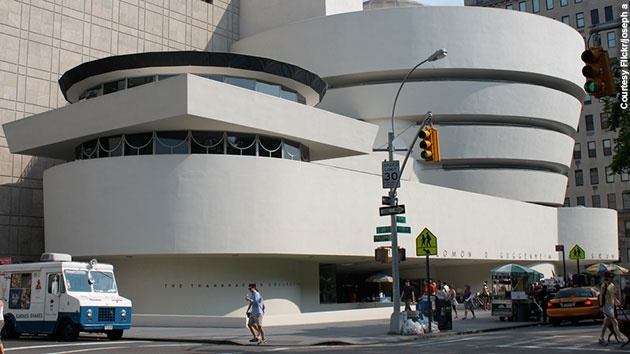 The Solomon R. Guggenheim Museum – located on the Upper East Side of Manhattan in New York City – opened on October 21, 1959.