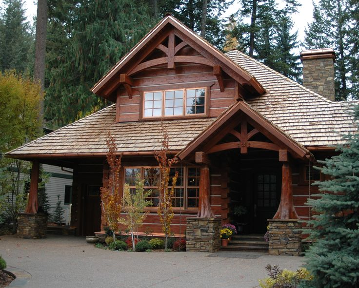 Image detail for caribou creek log homes construction for Craftsman style log homes