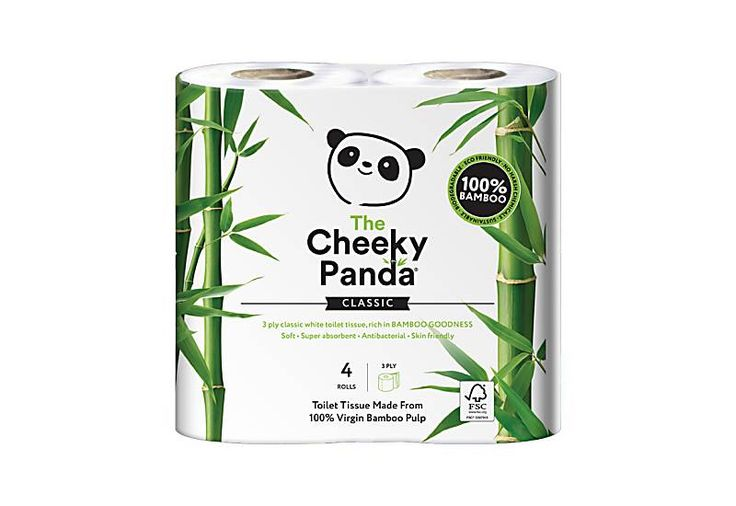 The Cheeky Panda FSC Certified Bamboo Toilet Tissue - 4 Rolls | Big Green Smile 2.49