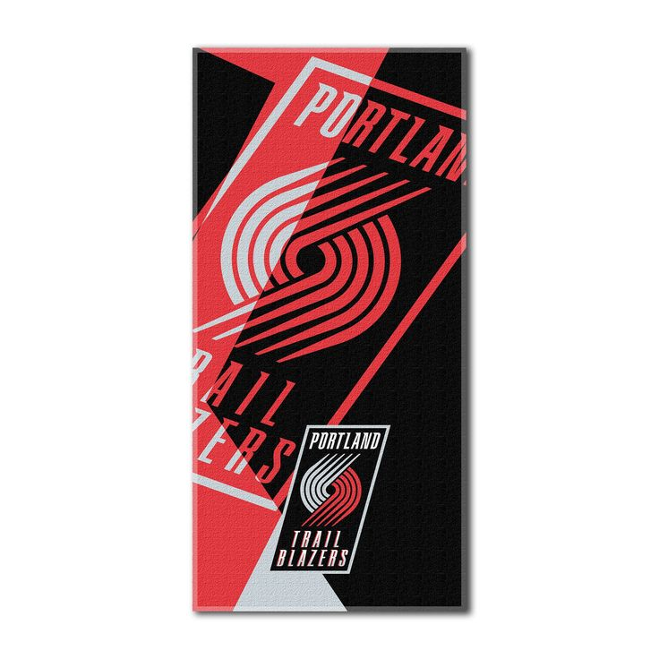 "Trailblazers OFFICIAL National Basketball League, ""Puzzle"" 34""x 72"" Over-sized Beach Towel - by The Northwest Company"