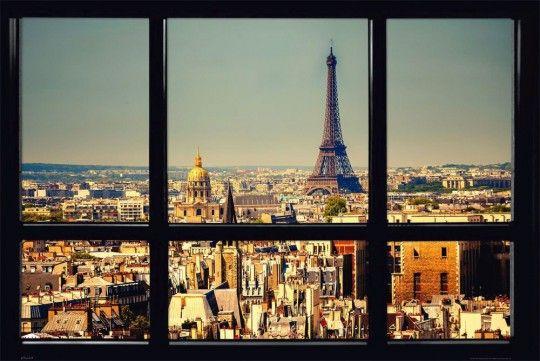 Paryż- widok z okna - plakat