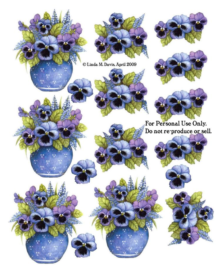 Blue Vase With Pansies Photo by mrssivadar | Photobucket