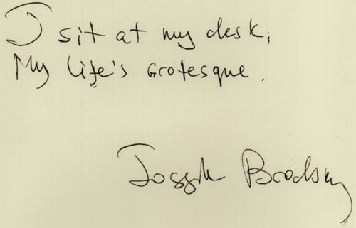 A distich by Joseph Brodsky : http://www.theparisreview.org/interviews/3184/the-art-of-poetry-no-28-joseph-brodsky | #poem #poetry