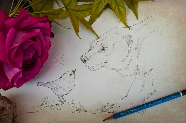 The goldcrest and the wolverine | da vanyrei