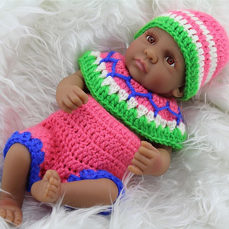 48.65$  Buy here - http://aliu2z.shopchina.info/1/go.php?t=32809123778 - Black African American Reborn Baby bjd Girl Dolls 10 Inch Full Vinyl Body Silicone Reborn Babies For Kids Doll Little Mommy GIFT  #magazineonlinewebsite