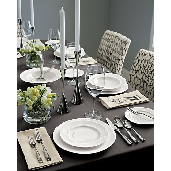 White Pearl Dinnerware  sc 1 st  Pinterest & 217 best CRATE and BARREL ... Dinnerware Glassware Tableware and ...