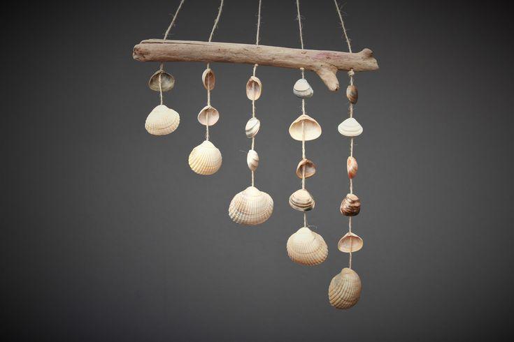 Traumfänger & Mobiles - Muschel-Mobile Windspiel Bunte Panflöte - ein Designerstück von Prinzessin-Schluesselblume bei DaWanda