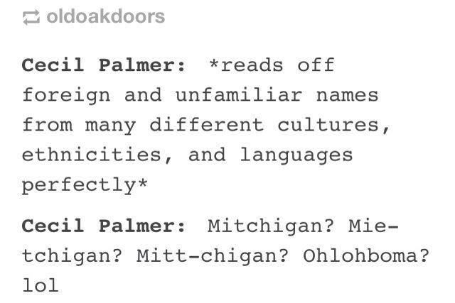 Mitchigan?>>the next time I go to Michigan I'm calling it Mitchigan