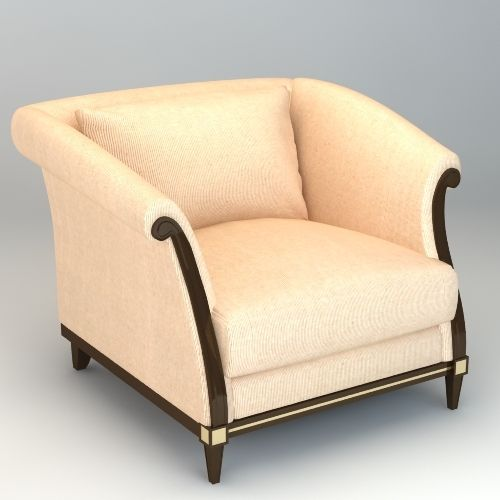 Armchair 3D Model | Download Royalty Free Sofa and Armchair 3D Models - 3D Squirrel