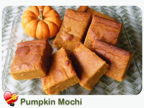 Pumpkin Mochi - ILoveHawaiianFoodRecipes