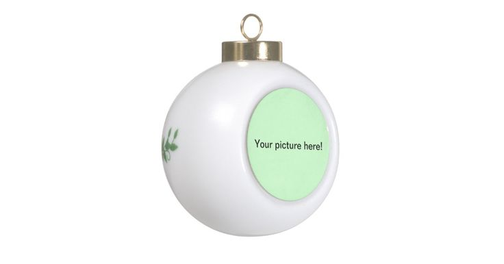 enter your business name here http://www.zazzle.com/ceramic_ball_ornament-256800435408507769