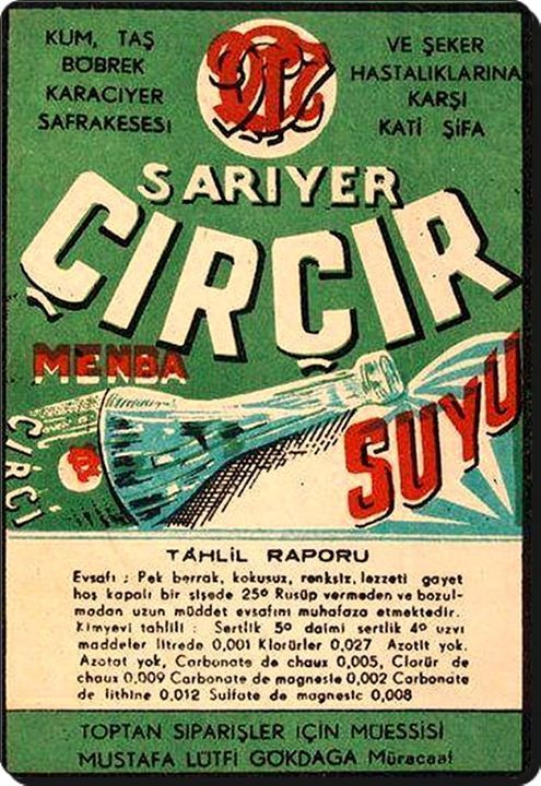 Sarıyer / Çırçır suyu tanıtım ilanı