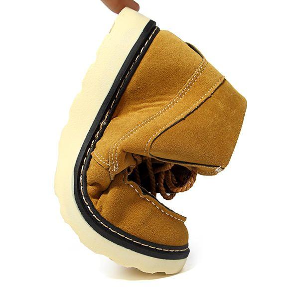 Men Comfortable Casual High Top Outdoor Suede Boots - US$33.79