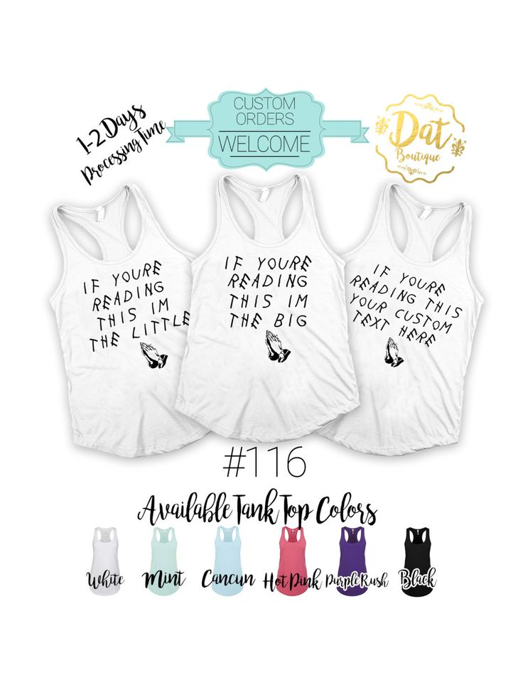 If You're Reading This I'm the Big or Little Sorority Tank Tops, Gbig, GGBig Drake album Family Sorority tank tops, Custom text available by DatBoutiqueNola on Etsy