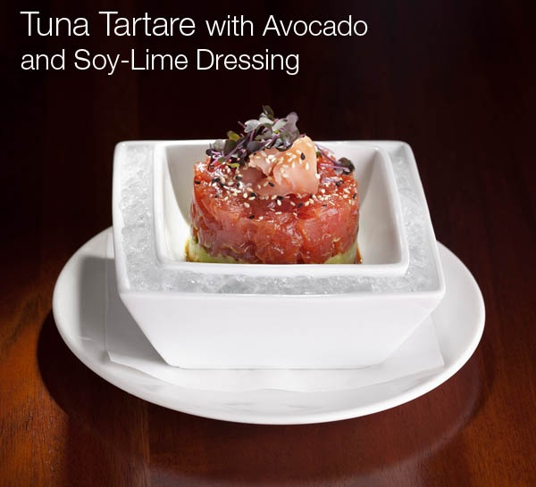 Tuna Tartare With Avocado And Crispy Shallots Recipe — Dishmaps