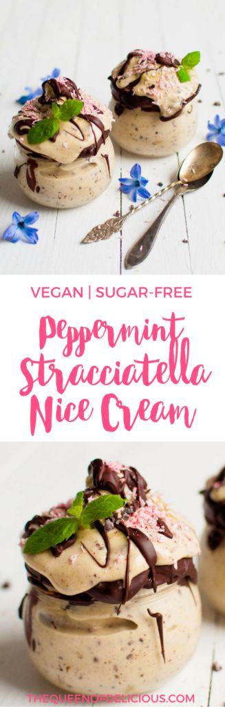 Peppermint Stracciatella Nice Cream   Vegan Icecream   Healthy Dessert   Sugar-free