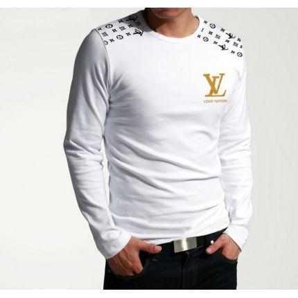 Cheap Louis Vuitton Long-Sleeved T-shirts for Men in 20783, $22 USD- [IB020783] - Replica Louis Vuitton Long-Sleeved T-shirts for Men