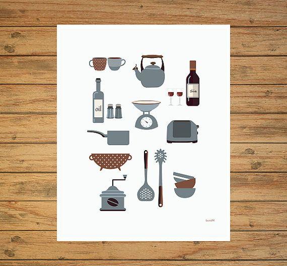 laminas cocina laminas imprimibles laminas por Ilustracionymas