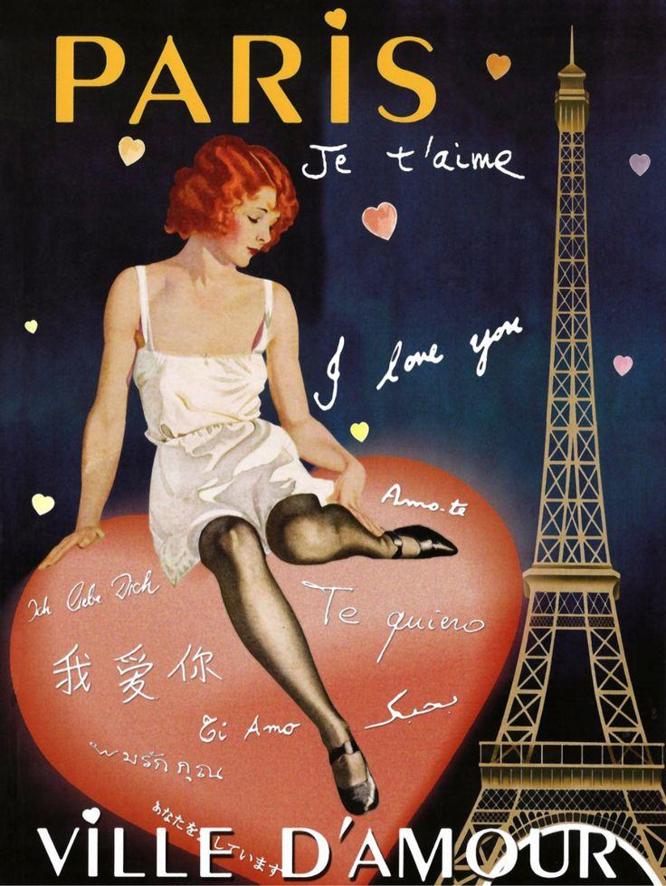 Vintage Poster - Paris I Love You