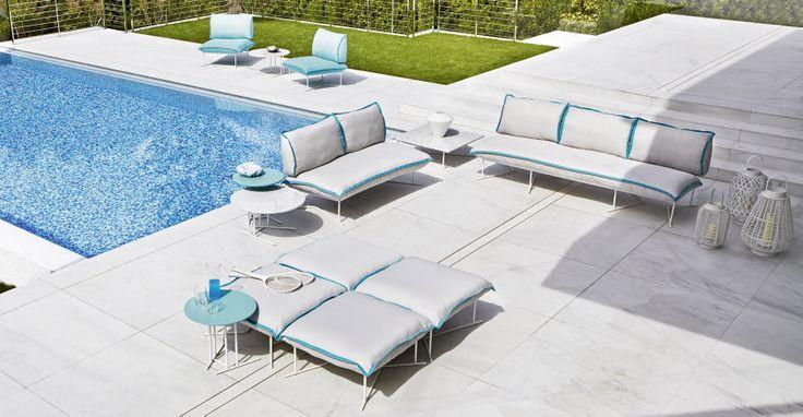 Colorado design lo scalzo moscheri Collection in powder coated Steel #design #hotelfurniture #contractfurniture #outdoordesign #outdoorfurniture #furniture #pool #sun #colours