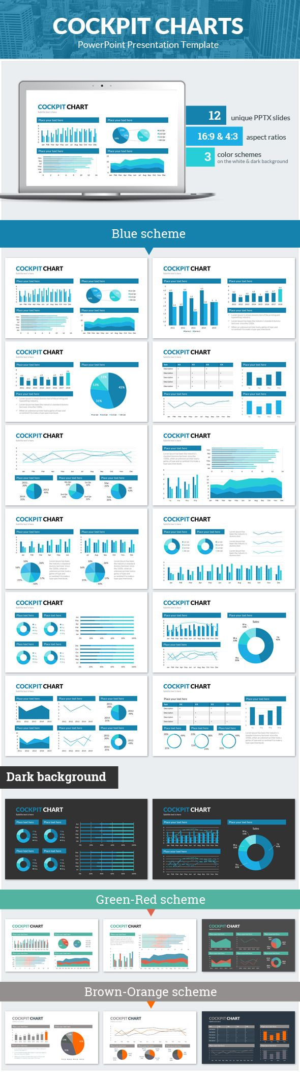 39 best various images on pinterest beautiful things cartography cockpit charts powerpoint presentation template httpgraphicriveritemcockpit toneelgroepblik Gallery