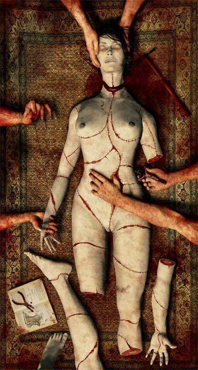 body part puzzle sculpture