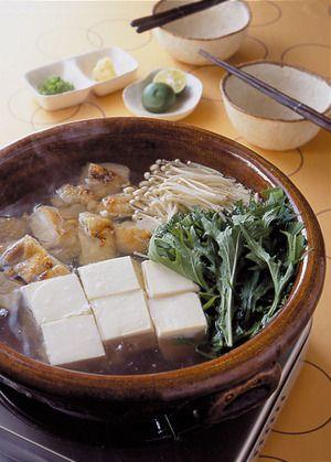 Yudofu -- Japanese Boiled Tofu and Veggies, Chicken 鶏と水菜の湯豆腐鍋