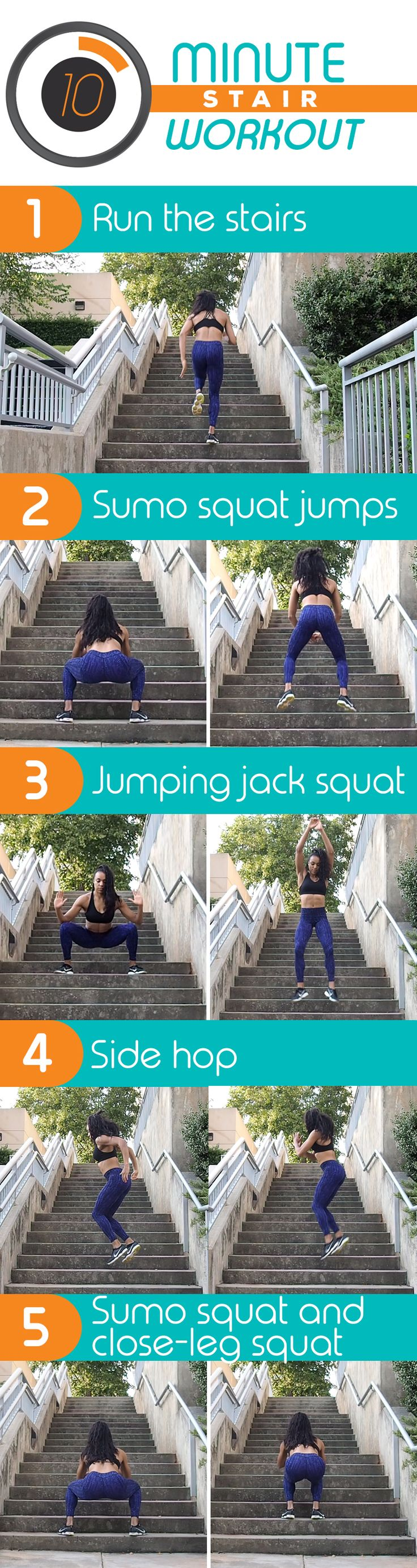 Try this easy stair workout to tone your legs and butt in 10 minutes!