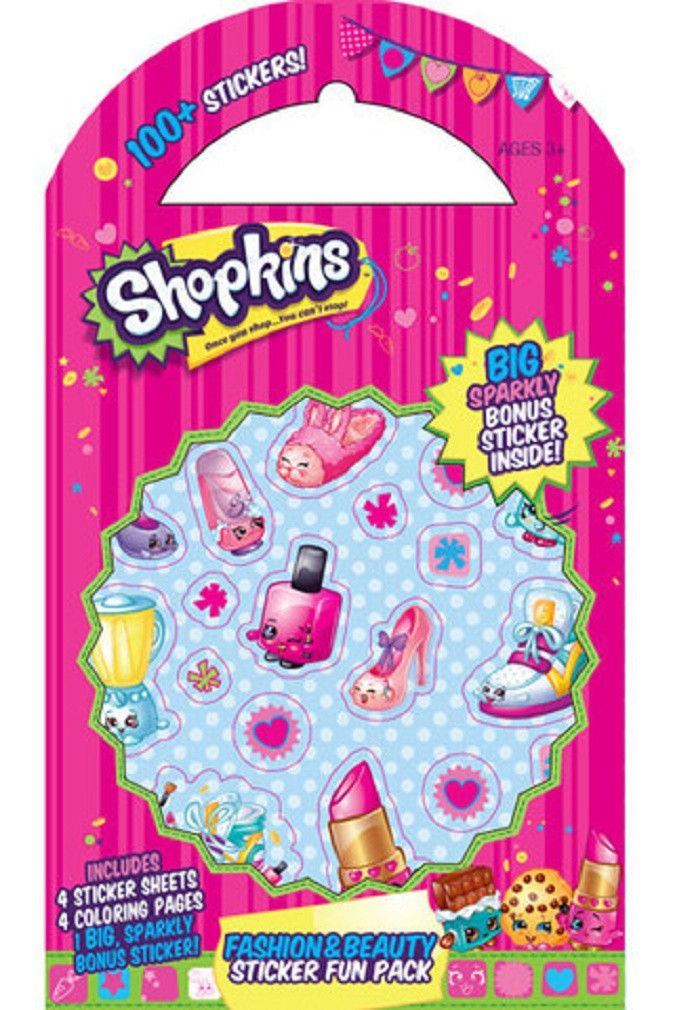 Shopkins Fashion & Beauty Stickers - Fun Pack of 100 Stickers, by Mrs. Grossman