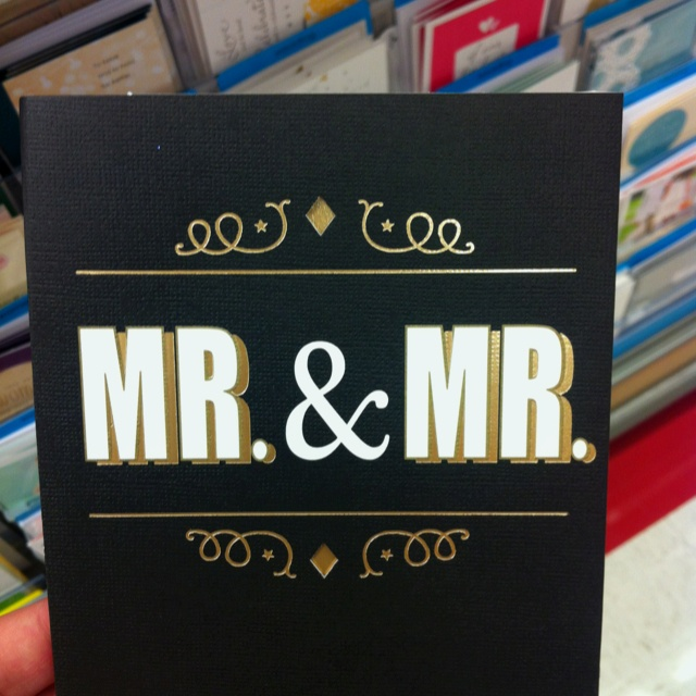 Found this gay wedding card at @Target and my heart melted. Love.