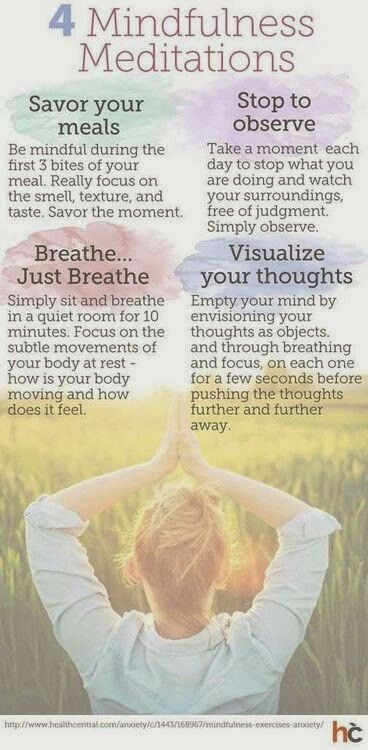 4 Mindfulness #meditations  #kombuchaguru #meditation Also check out: http://kombuchaguru.com