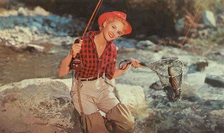 Fly fishing girl