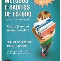 Workshop Métodos e Hábitos de Estudo in WORKSHOPS on Formação Portugal