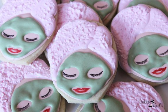 Spa Day Cookies, Spa Party, Slumber Party Cookies, Towel Wrap Girl, Girls Night, Pamper Day