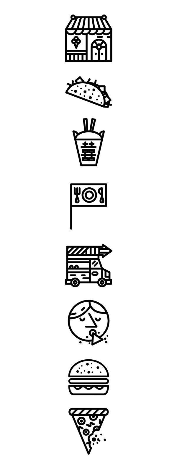 ✖✖✖ New York Mag Icons by Daniel Ting Chong, via Behance ✖✖✖