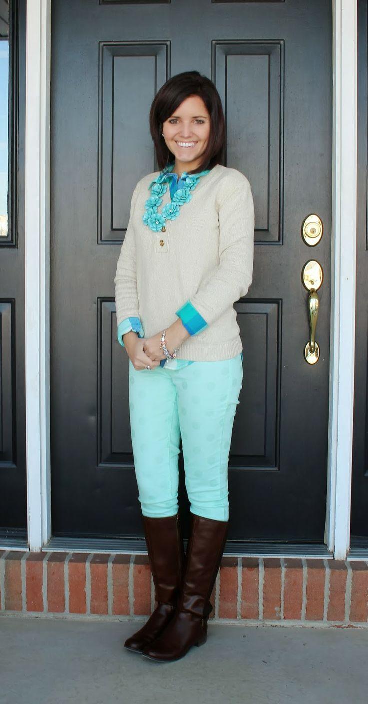 love this girl's blog teacher outfits  all so cute