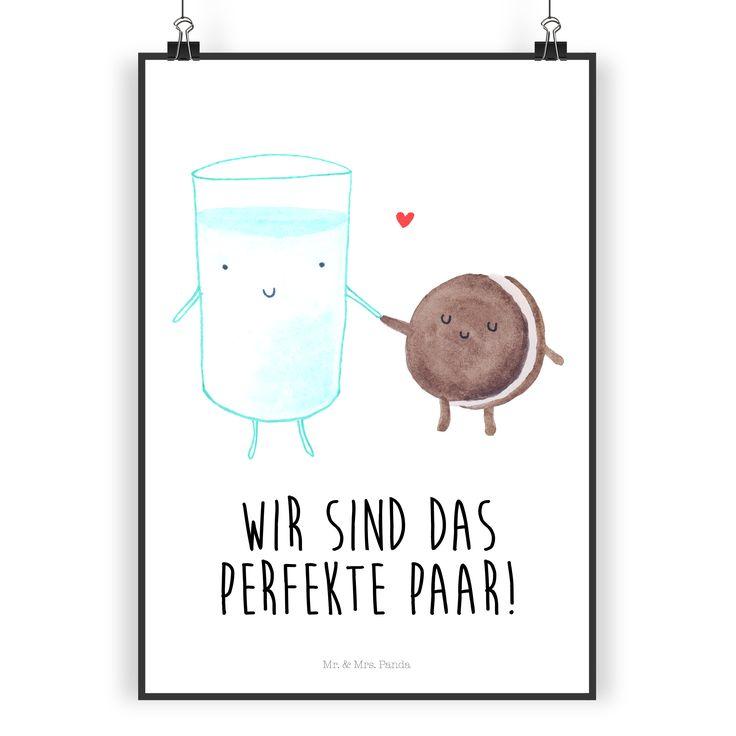 Poster DIN A4 Milch & Keks aus Papier 160 Gramm  weiß - Das Original von Mr. & Mrs. Panda.  Jedes wunderschöne Poster aus dem Hause Mr. & Mrs. Panda ist mit Liebe handgezeichnet und entworfen. Wir liefern es sicher und schnell im Format DIN A4 zu dir nach Hause.    Über unser Motiv Milch & Keks  Milch & Keks ist ein ganz besonders liebevolles Motiv aus der Reihe von Mr. & Mrs. Panda    Verwendete Materialien  Es handelt sich um sehr hochwertiges und edles Papier in der Stärke 160 Gramm…