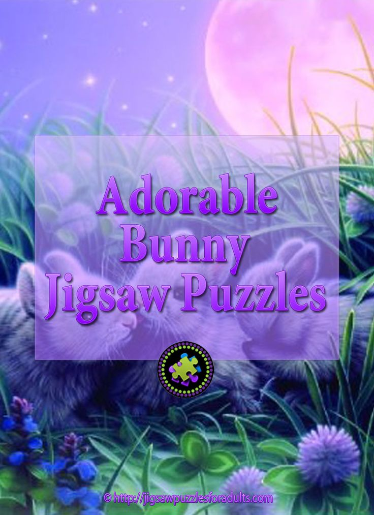 Are you looking for that perfect bunny jigsaw puzzle? These delightful bunny jigsaw puzzles are a wonderful family activity! You'll find plenty of bunny jigsaw puzzles in almost every shape and size and piece count!