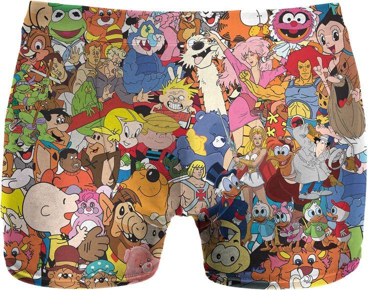 80's Cartoon Collage