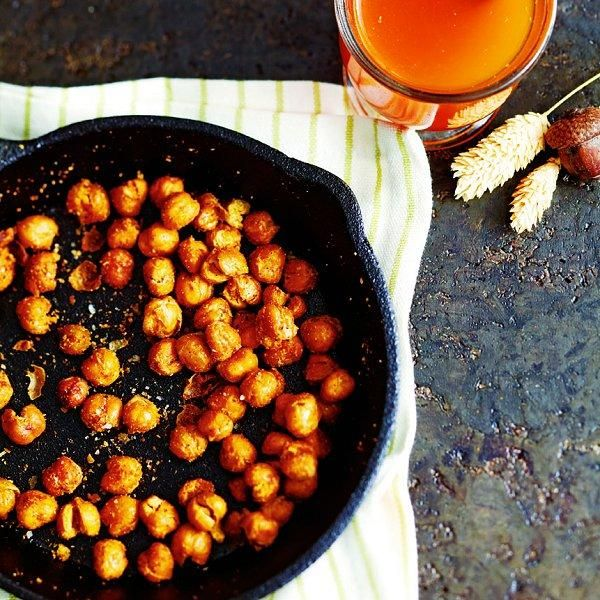Delight in the fragrant spices used for our flavourful Crispy curried chickpeas recipe. Find more tasty appetizer ideas at Chatelaine.com.