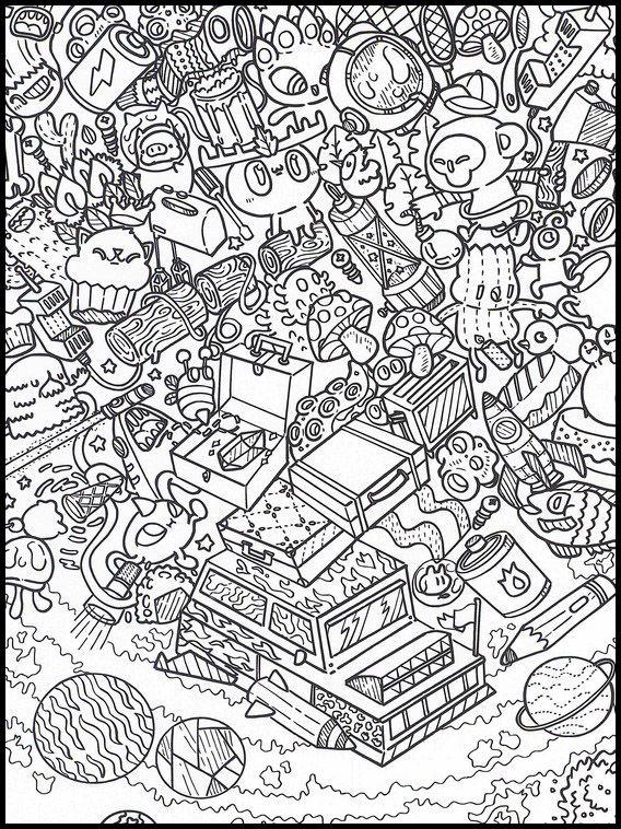 Doodles Im Weltraum 8 Ausmalbilder Fur Kinder Malvorlagen Zum Ausdrucken Und Ausmalen Coole Kritzeleien Ausmalbilder Ausmalbilder Zum Ausdrucken