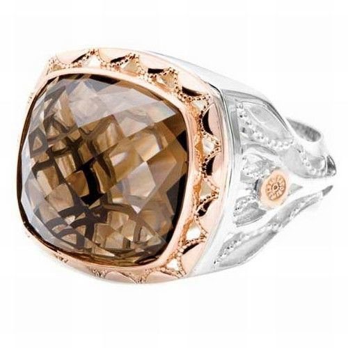 Smokey Quartz and Rose Gold Ring by Tacori Jewelry SR118P17 FREE SHIPPING