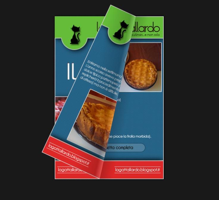 """Bozza di un ricettario """"sfogliabile"""" realizzato con Jquery • A leaf trough recipe book made with jquery"""