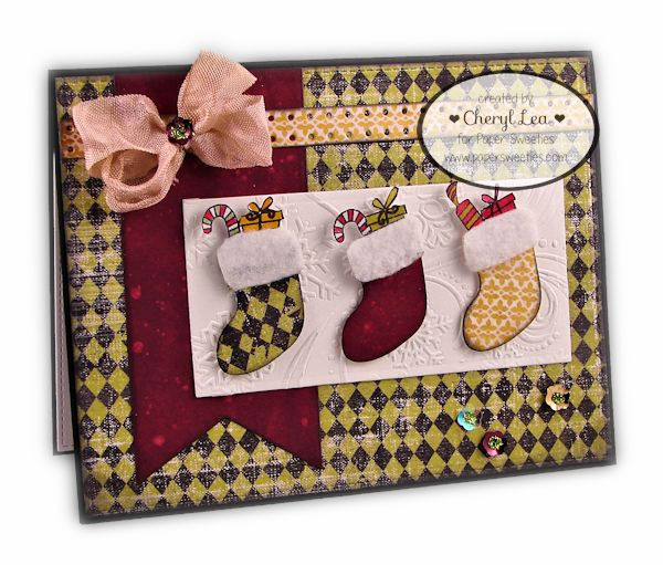 Ink Up: Christmas card using Paper Sweeties stamps and Sweet Cuts dies.