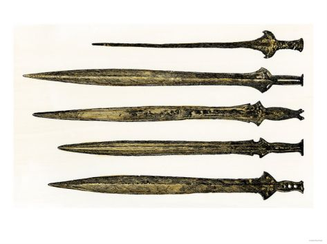 Celts In Ireland | Bronze Swords of the Celts, Found in Ireland Giclee Print at Art.com
