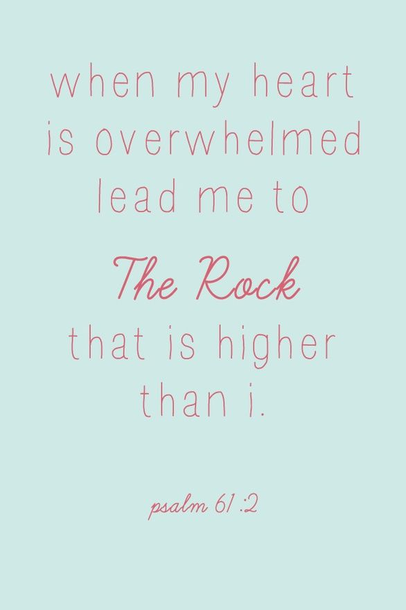 The Rock Psalm 61:2