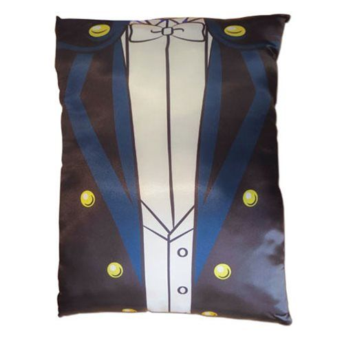 Rest your head on this Sailor Moon Tuxedo Mask Costume Pillow. This pillow features Tuxedo Mask's signature black outfit from the anime and manga Sailor Moon. This dapper pillow makes a great addition to your Sailor Moon collection. Measures about 12-inches wide x 16-inches long.